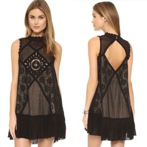 Free People Black Angel Lace Dress | XS